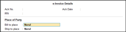 How to update bill to place in e-invoice